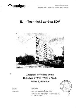 E.1 Technická zpráva ZOV