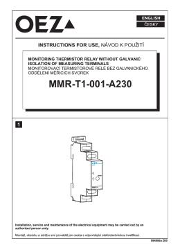 Teplotní relé - MMR-T1-001-A230