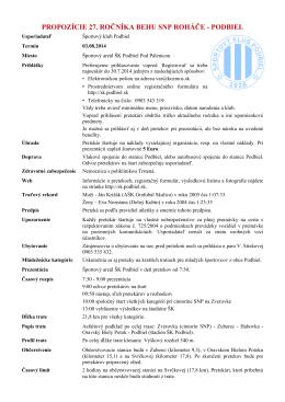 propozície 27. ročníka behu snp roháče - podbiel