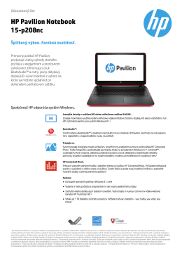 PC Consumer Notebook features - HP