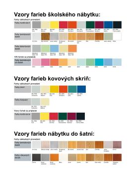 Vzory farieb nábytku do šatní
