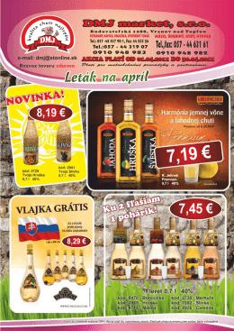 7,19 € - DMJ MARKET, sro