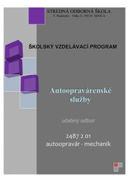 autoopravár - SOŠ Senica