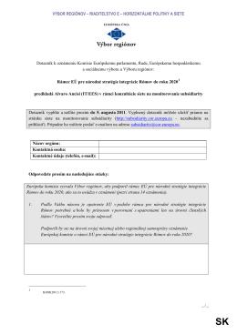 Návrh dotazníka o integrácii Rómov