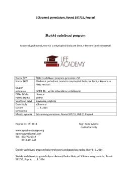 Stiahnuť - Life Academy