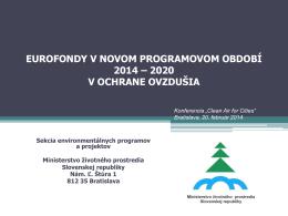 Eurofondy v novom programovom období 2014
