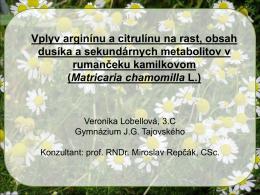Matricaria chamomilla L