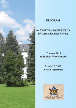 10. ved. konferencia - PROGRAM_A5.indd