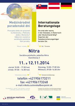 Nitra - Sociálna poisťovňa