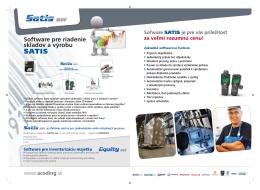 Software pre riadenie skladov a výrobu SATIS