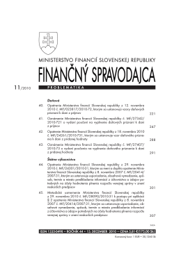 Finančný spravodajca 11/2010