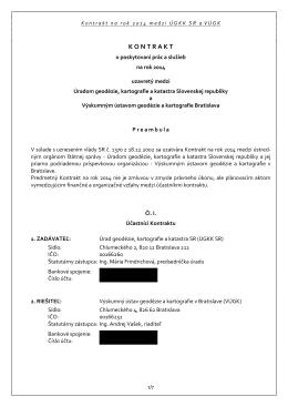 kontrakt2014_s prilohami.pdf - Výskumný ústav geodézie a