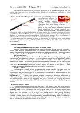 Návod na použitie (SK) E-cigareta 510-T www.ecigarety