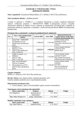 Gymnázium Milana Rúfusa, Ul. J. Kollára 2, Žiar nad Hronom