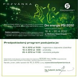 Dni energie PSI 2012