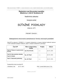 SÚŤAŽNÉ PODKLADY - Štatistický úrad SR