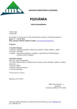 Pozvánka_VZ_AMS - Asociácia mediátorov Slovenska