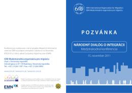 Program Národného dialógu o integrácii - november 2011