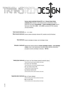 Program - NITT SK - Centrum vedecko