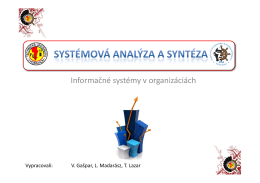 Cviko 5 - Informačné systémy v organizáciách