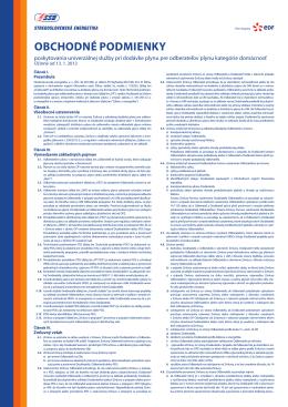 Obchodné podmienky účinné od 13.1.2013