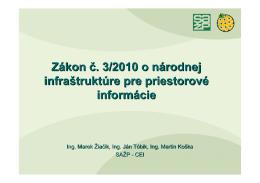 Zákon č. 3/2010 o NIPI