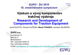 Research and Development Components of Traction - EURO