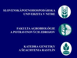 Biologická rozmanitosť ľanu siateho hodnotená systémom