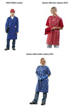 Plášť VENCA modrý Zástera dlhá bez rukávov DITA Zástera dlhá