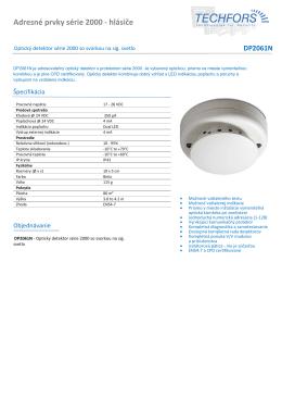 Infosheet - Techfors SK