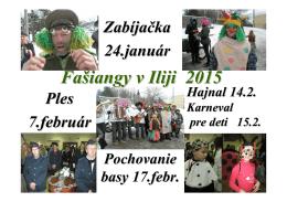 fašiangové podujatia Ilija 2015