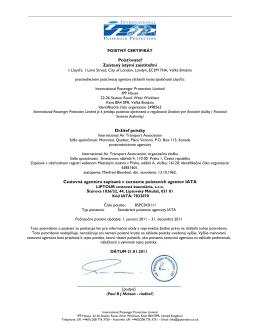 Poistný certifikát IPP