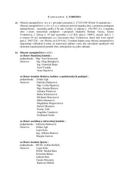 U znesenie č. 3/18032011 a) Obecné zastupiteľstvo