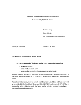 Regionálna veterinárna a potravinová správa Púchov Moravská