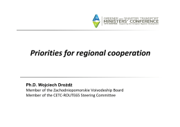 Priorities for regional cooperation
