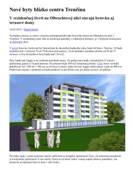 vizuál novej bytovky