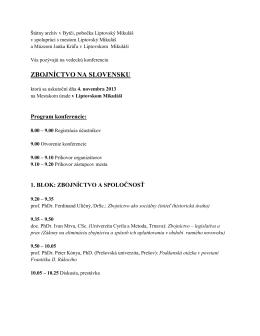 Program konferencie PDF