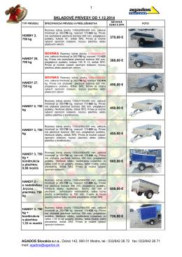 Skladove privesy 1.12.2014