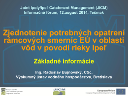 AGRICULTURAL POLICY - Joint Ipoly Catchment Management