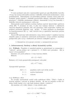 Dynamické systémy a diferenciálne rovnice ´Uvod V tomto