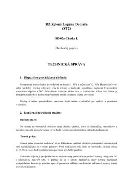 RZ Zelená Lagúna Domaša (ST2) TECHNICKÁ SPRÁVA