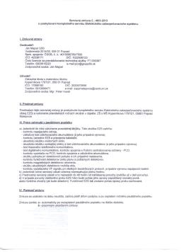 Servisná zmluva č.: 49/3-2013 o poskytovaní kompletného servisu