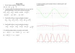 Domáca úloha 1. Preveď stupne na radiány a radiány na stupne