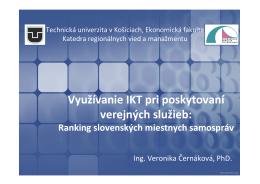 Vyžívanie IKT pri poskytovaní verjných služieb