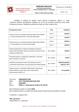Správne poplatky - Národný endokrinologický a diabetologický