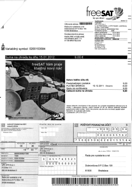 Suma na uhradu ku dnu 15.01.2012: 9,00 €