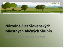 Národná Sieť Slovenských Miestnych Akčných Skupín