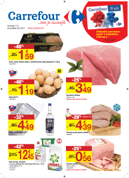Carrefour, ten je lacnejší