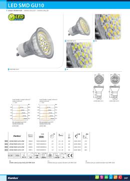 LED SMD GU10