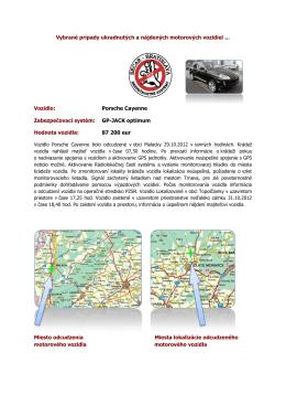 Porsche Cayenne Zabezpečovací systém: GP-JACK